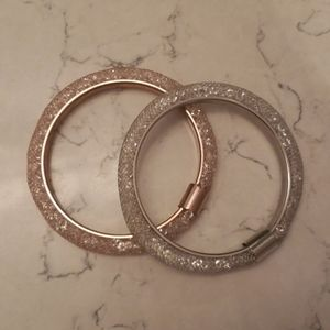 Silver and Rose Gold Bracelets